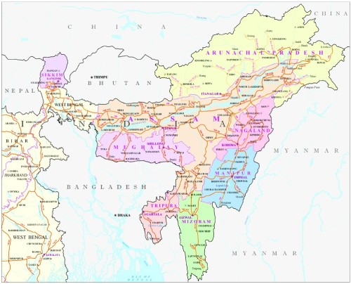 Geography of Assam and NE India
